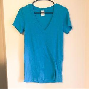 VS PINK V Neck Tee Shirt Blue